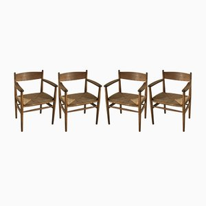 CH37 Dining Chairs by Hans J Wegner for Carl Hansen & Søn, 1960s, Set of 4