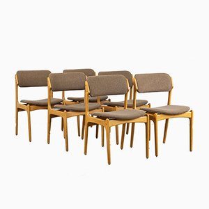 Model 49 Dining Chairs by Erik Buch for O.D. Møbler, 1960s, Set of 6