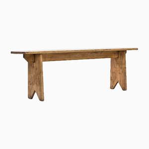 Vintage Rustic French Oak Bench, 1940s