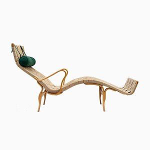Chaise longue Pernilla di Bruno Mathsson per Firma Karl Mathsson, 1967