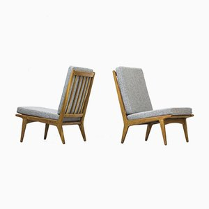 Swedish Easy Chairs by Karl-Erik Ekselius for JOC Vetlanda, 1950s, Set of 2