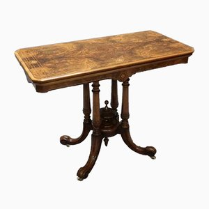 Antique Victorian Walnut Side Table, 1870s