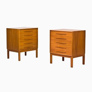 Swedish Teak Chests of Drawers by Alf Svensson for Bjästa , 1960s, Set of 2