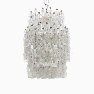 Lámpara de araña Poliedri grande de Carlo Scarpa para Venini, años 60