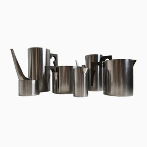 Mid-Century Stainless Steel Cylinda Tea & Coffee Set by Arne Jacobsen for Stelton