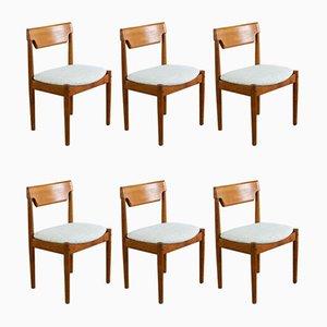 Dänische Vintage Esszimmerstühle aus Teak von Glostrup, 1960er, 6er Set