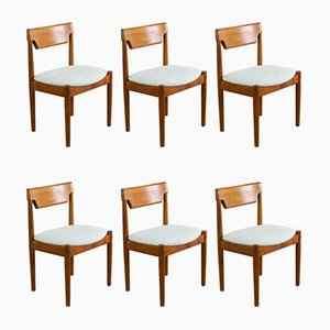 Vintage Danish Teak Dining Chairs from Glostrup, 1960s, Set of 6