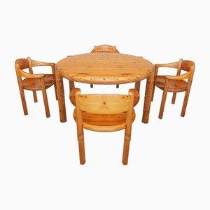 Mesa de comedor extensible danesa y juego de 4 sillas de Rainer Daumiller para Hirtshals Sawmill, años 60