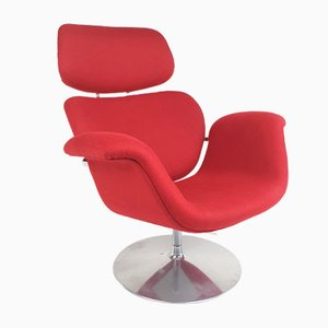 Large Red Tulip Lounge Chair by Pierre Paulin for Artifort, 1970s