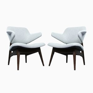 Mid-Century Lounge Chairs by Louis van Teeffelen for WéBé, 1960s, Set of 2