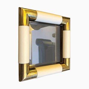 Vide-Poche Mid-Century de vidrio y latón de Tommaso Barbi, años 70