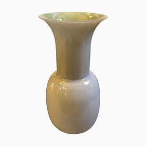 Moderne Muranoglasvase in Grau & Grün von Toso Aureliano, 2000er
