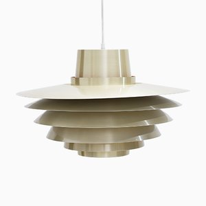 Brass Verona Pendant Lamp by Svend Middelboe for Nordisk Solar, 1970s