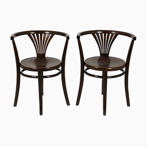 Model No. 28 Bentwood Dining Chairs from Thonet, 1920s, Set of 2