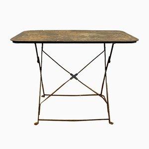 Klappbarer französischer Vintage Gartentisch