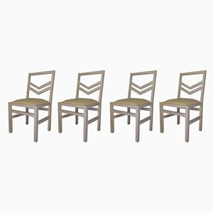 Vintage Quilt Chairs by Jean Michel Wilmotte for SCDR, Set of 4