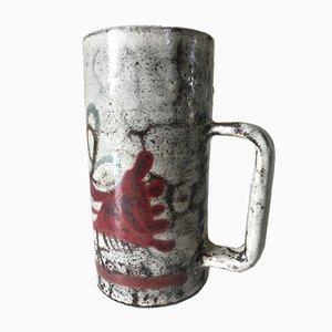Taza vintage de cerámica de Gustave Reynaud, años 60