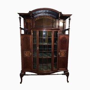Vetrina Art Nouveau antica intarsiata