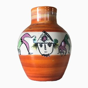 Ceramic Clown Vase from Accolay, 1960s