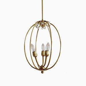 Italienische Mid-Century Deckenlampe aus Messing, 1950er