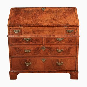 Secretaire antico Queen Anne in noce