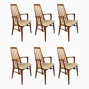 Danish Eva Dining Chairs by Niels Koefoed for Koefoeds Hornslet, 1960s, Set of 6