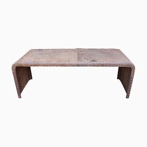 Grande Table Console Industrielle Vintage en Fer