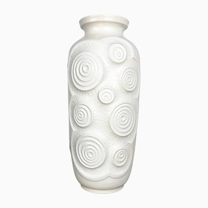 Large Op-Art German Pottery Floor Vase from Bay Keramik, 1970s