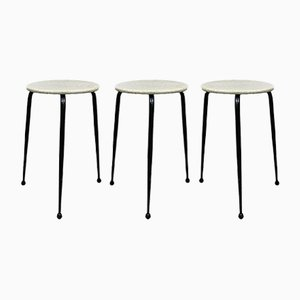 Stackable Stools from Universeel Den Haag, 1950s, Set of 3
