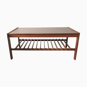 Mid-Century Teak Slatted Coffee Table from Myer, 1960s