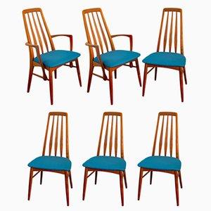 Esszimmerstühle von Niels Koefoed für Koefoeds Hornslet, 1960er, 6er Set