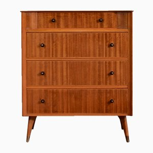 Mid-Century Teak & Brass Chest of Drawers from Austinsuite, 1960s
