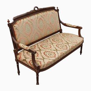 Antikes Sofa aus Nussholz