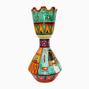Vase de Volpi Deruta, 1950s