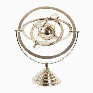 Verchromtes Vintage Tisch-Astrolabium, 1970er