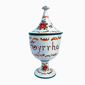 Coupe en Céramique avec Couvercle de Guerrieri Murano, 1950s