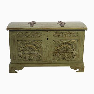 Antique Carved & Painted Chest of Drawers, 1740s