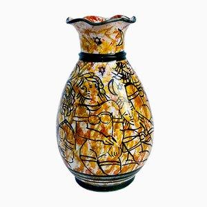 Vaso vintage in ceramica di La Giara Santo Stefano, anni '60