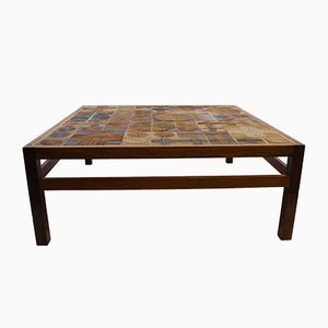 Danish Rosewood & Ceramic Tile Coffee Table by Tue Poulsen for Erik Wørts Mobelfabrik, 1960s
