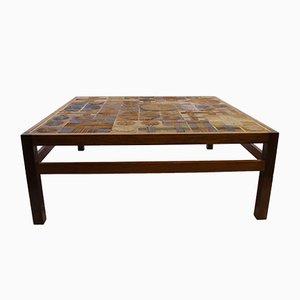 Table Basse en Palissandre et Céramique, Danemark, 1960s