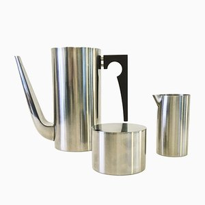 Juego de café Cylinda de Arne Jacobsen para Stelton, años 70