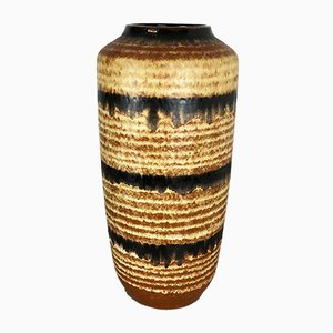 Large Multi-Color Pottery Fat Lava 517-45 Floor Vase from Scheurich, 1970s