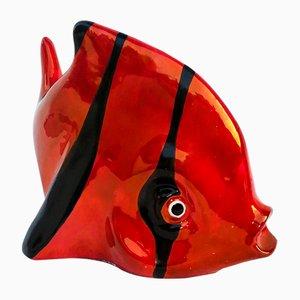 Fisch Figurine aus Keramik von S. Mola CA Sardegna, 1950er