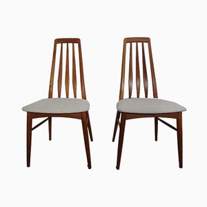 Vintage Eva Esszimmerstühle aus Teak von Niels Koefoed für Hornslet Møbelfabrik, 1960er, 2er Set