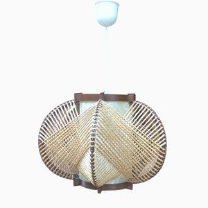 Lámpara de techo de sisal y baquelita de MK Leuchten, años 70