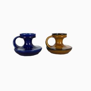 Candelabros de cerámica de Cari Zalloni para Steuler, años 70. Juego de 2