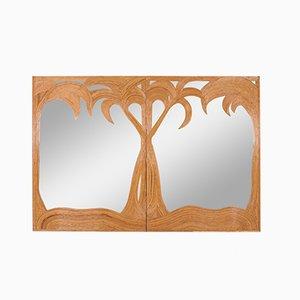 Großer Spiegel in Palmen-Optik von Vivai Del Sud, 1970er