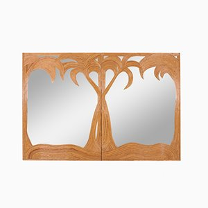 Large Palm Tree Mirror from Vivai Del Sud, 1970s