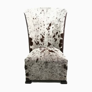 Vintage African Cowhide Lounge Chair