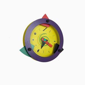 Reloj de pared japonés Paradise posmoderno de Shohei Mihara para Wakita, años 80